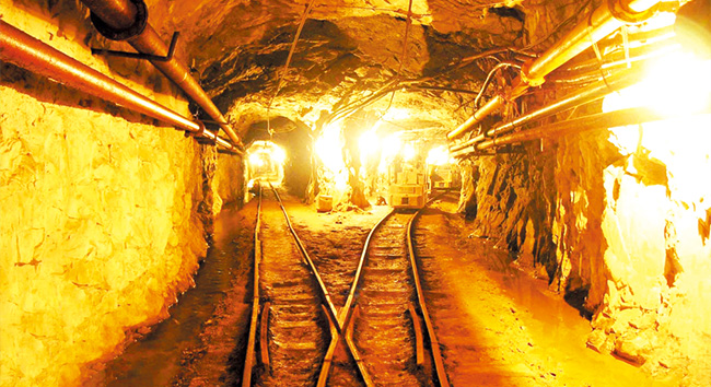 Light rails are used in major mines as small mine tracks